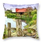 Do-00251 A Farm In Hunter Valley Throw Pillow