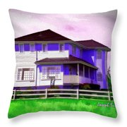 Do-00258 House In Grindelwald Swiss Village Throw Pillow