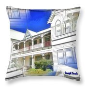 Do-00270 Dreamy Front Of Peppers Convent Throw Pillow