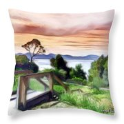 Do-00272 Look Out From Sarah Island Throw Pillow
