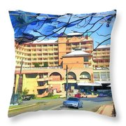 Do-00288 Crowne Plazza From A Hill Throw Pillow