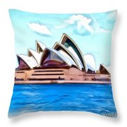 Do-00293 Sydney Opera House Throw Pillow
