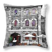 Do-00297 Salamanca Restaurant Throw Pillow