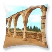Do-00303 Arcades In Anjar Throw Pillow