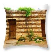 Do-00305 Old Hutt In Anjar Throw Pillow