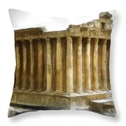 Do-00311 The Temple Of Bacchus Baalbeck Throw Pillow