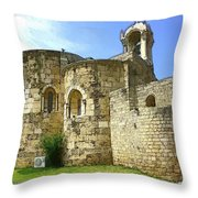 Do-00344 Church Of St John Marcus In Byblos Throw Pillow