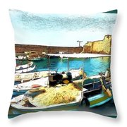 Do-00346 Byblos Port Throw Pillow