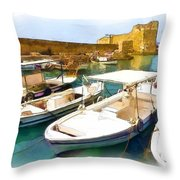 Do-00350 Byblos Port Throw Pillow