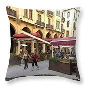 Do-00352 Downtown Coffee Shops Throw Pillow