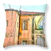 Do-00386 Old Building In Mar Mikhael Throw Pillow