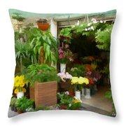 Do-00433 Florist In Gemmayzeh Throw Pillow