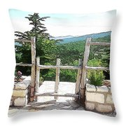 Do-00458 Fence Mar Charbel Chabel Throw Pillow