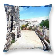 Do-00459 Mar Charbel Aanaya Throw Pillow