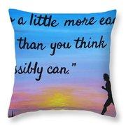 Do A Little More 18x24 Inspirational Art Throw Pillow