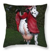 Do Happy Cows Come From Ca Throw Pillow