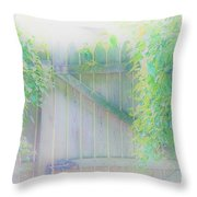 Do I Want To Leave The Garden Throw Pillow