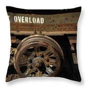 Do Not Overload Throw Pillow