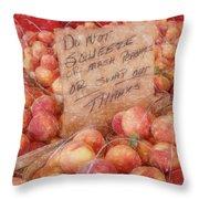 Do Not Squeeze Throw Pillow