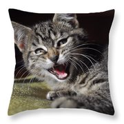 Do Not Start With Me Throw Pillow