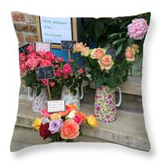 Do Not Touch The Floral Display Throw Pillow