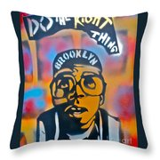 Do The Right Thing Throw Pillow by Tony B Conscious
