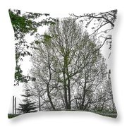 Do You See The Walking Tree Throw Pillow