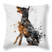 Doberman Pinscher Throw Pillow