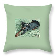 Dobermann Throw Pillow