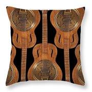 Dobro 4 Throw Pillow by Mike McGlothlen
