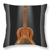 Dobro In A Box Throw Pillow by Mike McGlothlen
