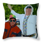 Doc And Marty Throw Pillow