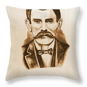 Doc Holiday Throw Pillow