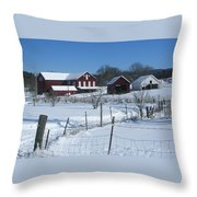 Doc Witts Farm Throw Pillow