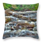 Dochart Falls Throw Pillow