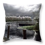 Dock At Dusk Throw Pillow