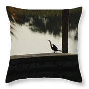 Dock Bird In Color Throw Pillow