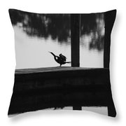 Dock Bird Throw Pillow