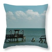 Dock By The Sea Throw Pillow