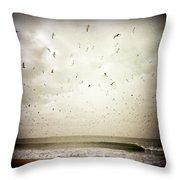 Dockweiler State Beach Throw Pillow