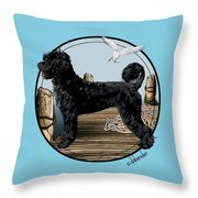 Dock Dog  Throw Pillow