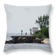 Dock Girl Throw Pillow