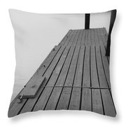 Dock In Black And White Throw Pillow
