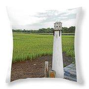 Dock Lighthouse Throw Pillow