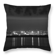 Dock Lights Dublin Throw Pillow