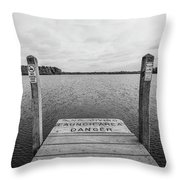 Dock No Diving  Throw Pillow