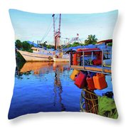 Dock Of Color Throw Pillow
