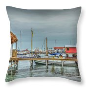 Dock Of The Sea Throw Pillow