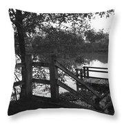 Dock On The Bayou Throw Pillow