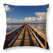 Dock On The Lake Throw Pillow